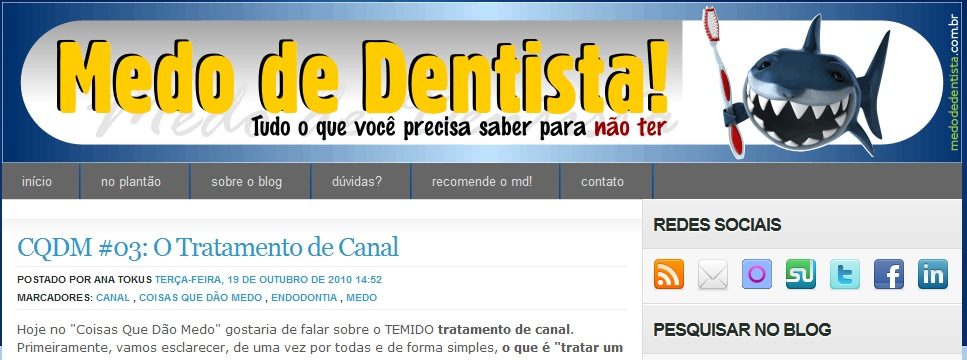 blog medo de dentista
